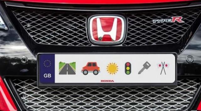 Plat mobil emoji Honda.